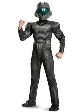 Halo Spartan Buck Classic Muscle Costume For Children