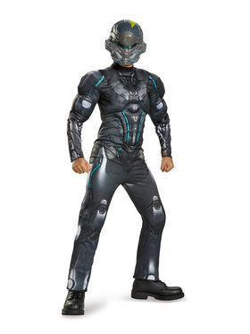 Halo Spartan Locke Classic Muscle Chest Boys Costume