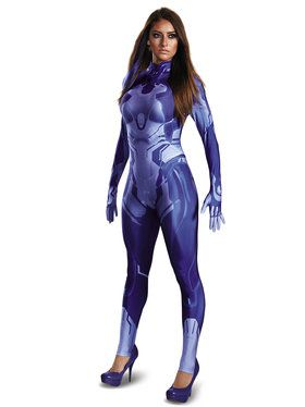 Halo Wars 2 Cortana Adult Costume Bodysuit