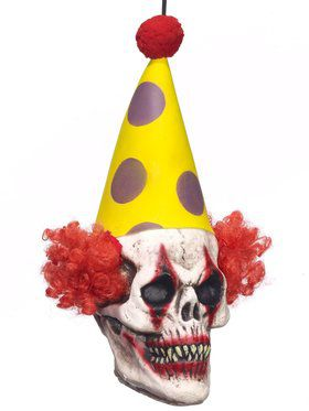 Hanging Circus Clown Head Prop