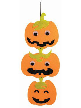 Hanging Felt Pumpkin Decoration