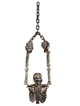 Hanging Skeleton Torso and Chains Decoration