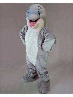 Happy Dolphin Mascot Adult's Mascot Costume