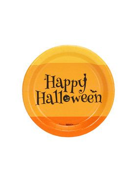 Happy Halloween Candy Corn Dessert Plate (8)