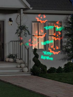happy halloween with strobe projection light