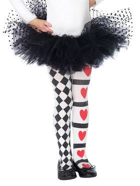 Harlequin and Hearts Child Tights