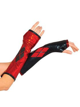 Harley Quinn Fingerless Gloves For Women