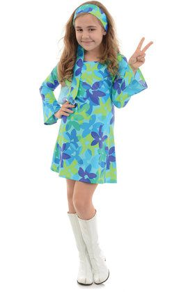 Harmony Hippie Girl's Costume