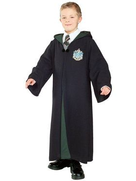 Harry Potter - Deluxe Slytherin Robe Costume For Children