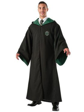 Harry Potter Slytherin Replica Deluxe Robe Costume For Adults