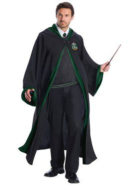 Adult's Plus Size Slytherin Hogwarts Student Costume Kit