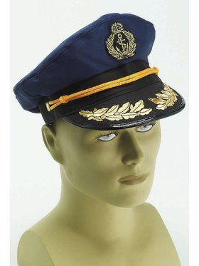 Captain Adult Navy Blue Hat