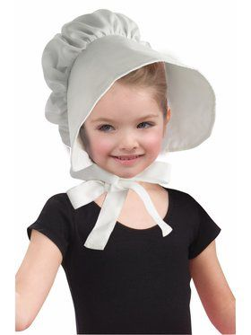 Child White Bonnet Hat