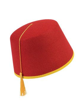 Hat Felt Red Fez Accessory