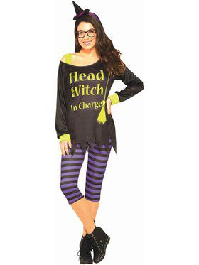 Adult Head Witch In Charge Costume