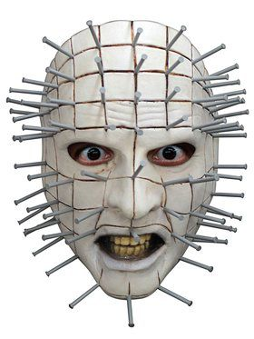 Pinhead White Face Mask