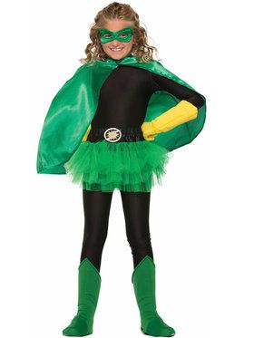 Hero Black Pants Girl's Costume