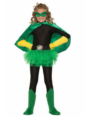 Hero Black Shirt Girl's Costume
