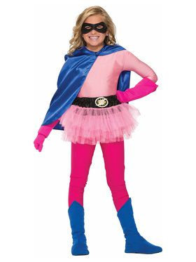 Hero Pink Shirt Girl's Costume