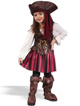 High Seas Buccaneer Girl Costume For Toddlers