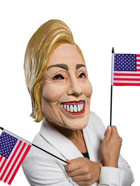 3/4 Latex Hillary Mask