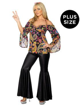 Plus Size Hippie Costume For Adults