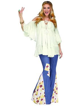 Hippie Gauze Top Ladies Costume