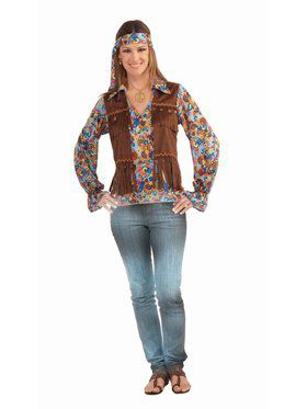 Hippie Groovy Set Female Costume