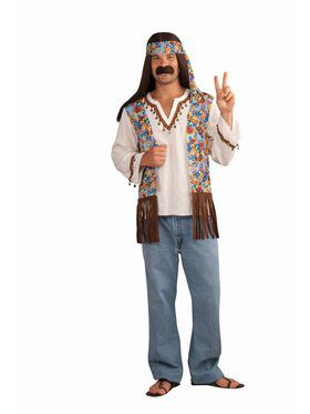 Hippie Groovy Set Male Costume