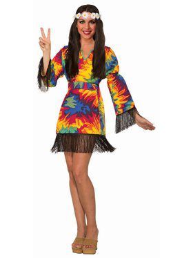 Hippie Tye Dye Dress Costume