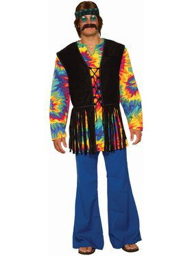 Hippie Tie Dye Dude Costume