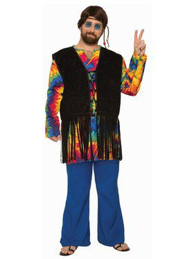 Hippie Tye Dye Dude Plus Size Costume