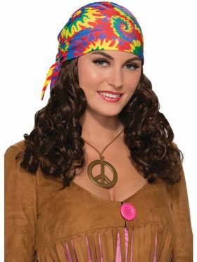 Hippie Wig with Headscarf for Women