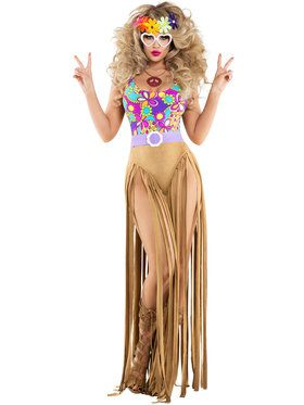 Hippy Chick Sexy Womens Costume