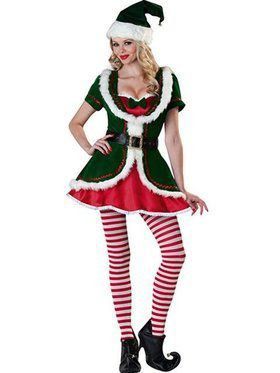 Womens Holiday Honey Elf Costume