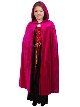 Kid's Crushed Panne Hooded Cape