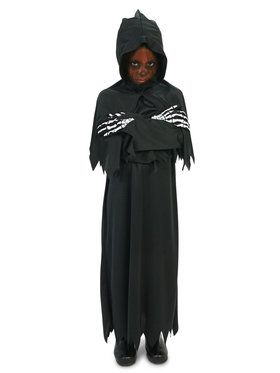 Hooded Grim Reaper Costume For Children