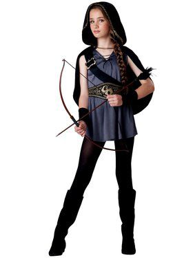 Hooded Huntress Tween Girl's Costume