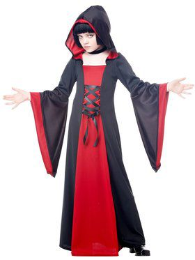 Hooded Robe Girl's Costume