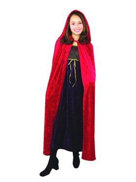 Crushed Panne Hooded Cloak