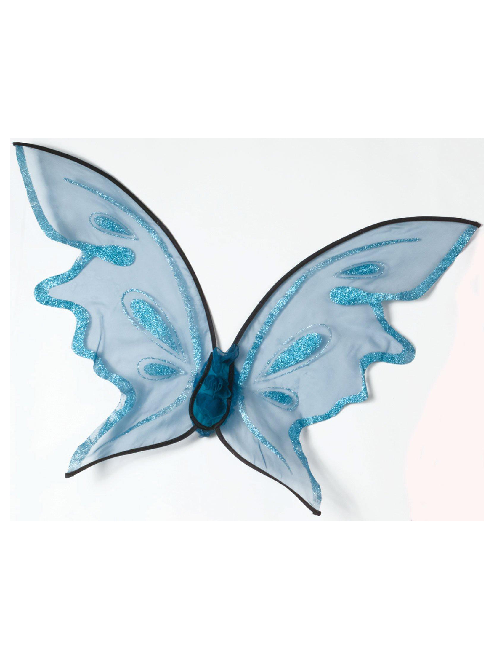 Hot Color Butterfly Wings - Blue FW90456B