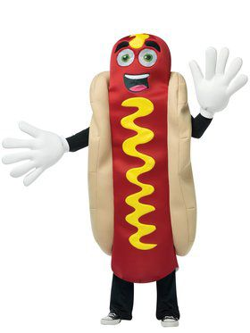 Hot Dog Mascot Adult Costume