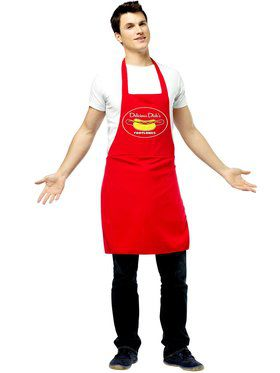 Hot Dog Vendor Dirty Apron Men's Costume