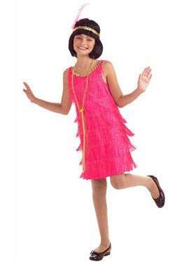 Hot Pink Child Flapper Costume