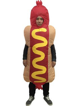 Adult Hotdog Inflatable Costume For Adults