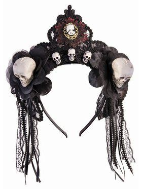 House of Bonez Fancy Skull Headband Accessory