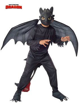 How to Train a Dragon 2 Toothless-Night Fury Boy's Costume