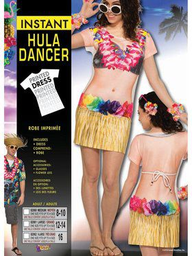 Hula Dancer Sublimation Adult Costume