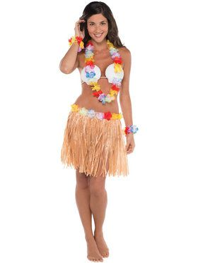 Hula Skirt Kit Women's Costume