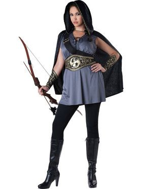 Huntress Plus Size Women's Costume